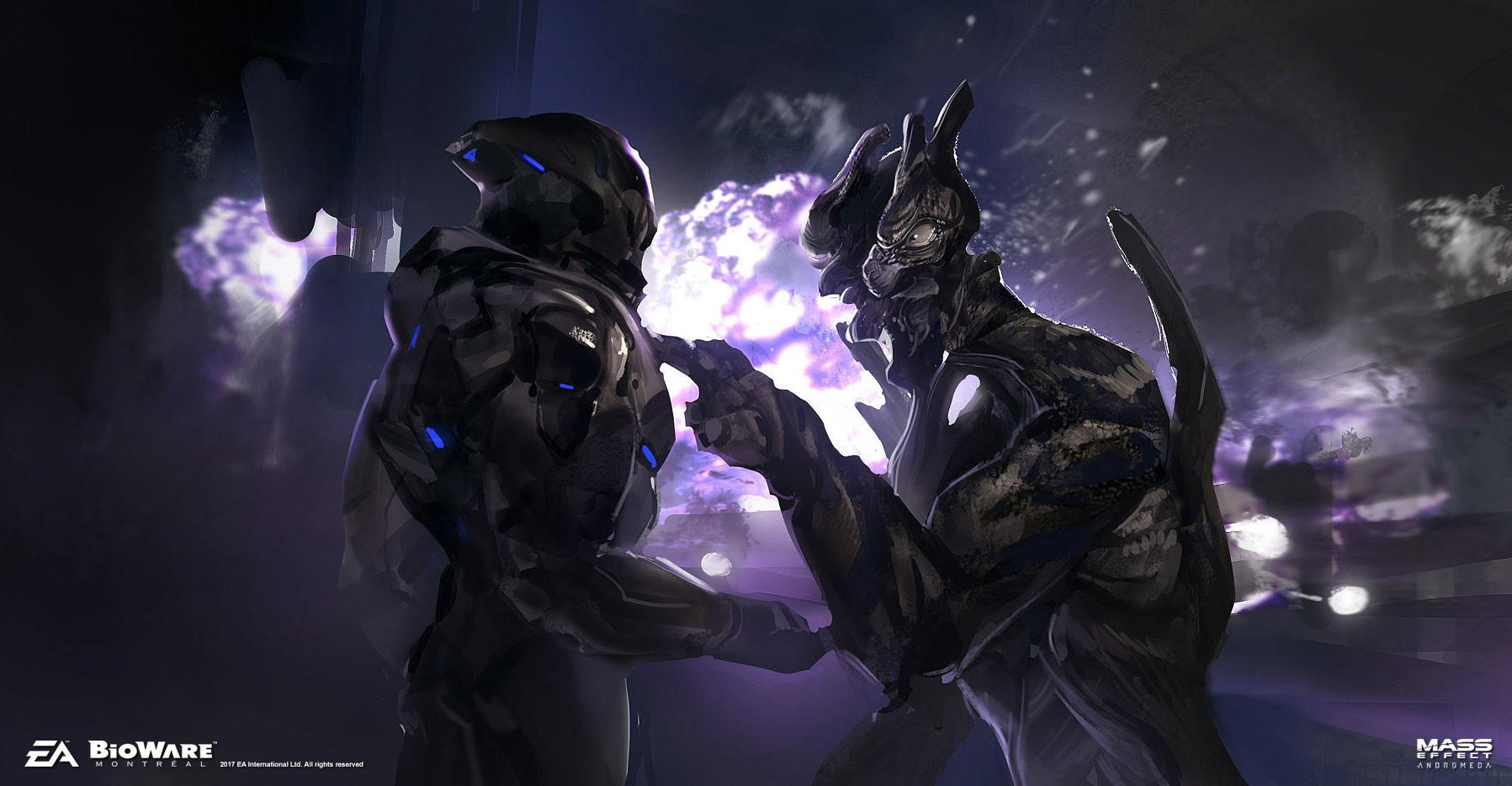 Mass Effect Andromeda Artwork Strange Alien