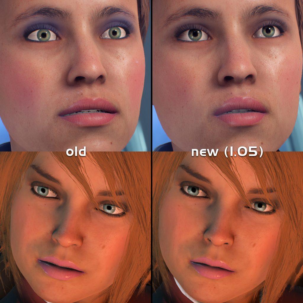 Mass Effect Andromeda Gesichter Vorher Nachher