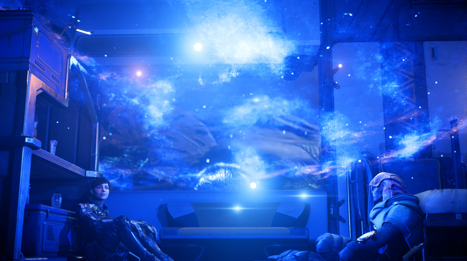 Mass Effect Andromeda Jaal Ryder Chilling