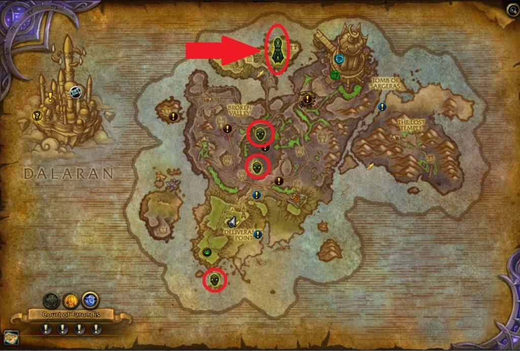 WoW Broken Shore Map Sentinax Rare Elite