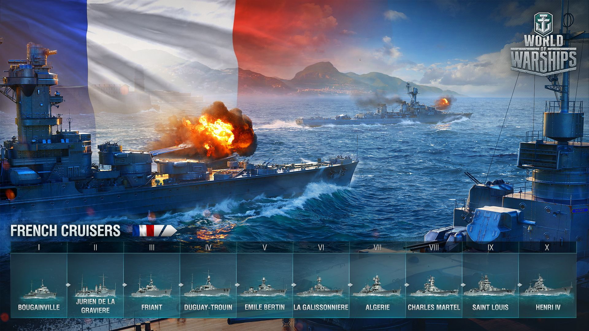 World of Warships franzosen kreuzer