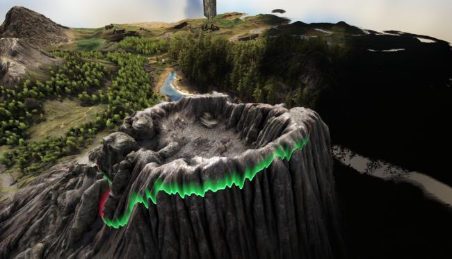 Ark: Keine zerstörende Lava - Vulkan im Zentrum wird zur Tek-Cave