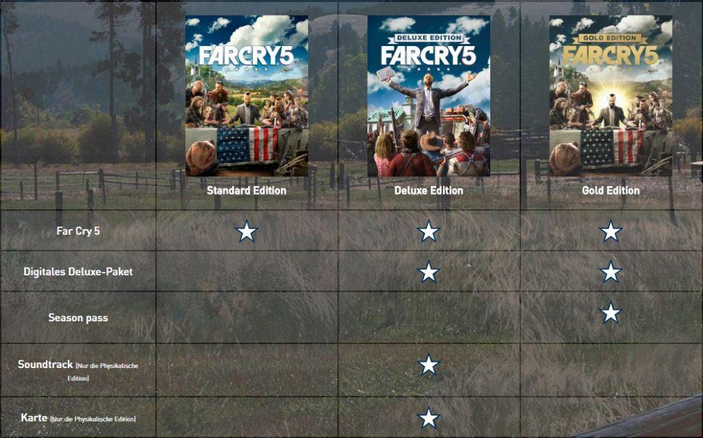 Far Cry 5 bestellen Übersicht