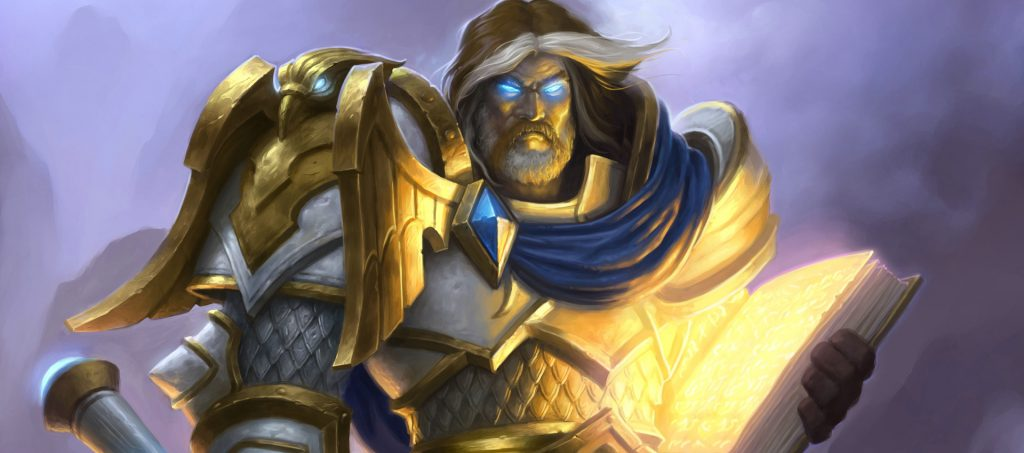 Hearthstone Uther Paladin Artwork