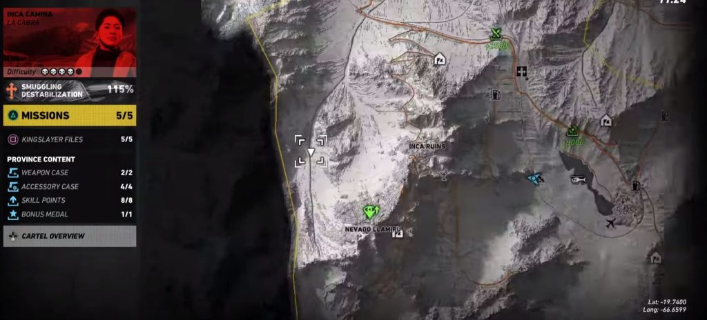 Ghost Recon Wildlands Inca Camina Yeti