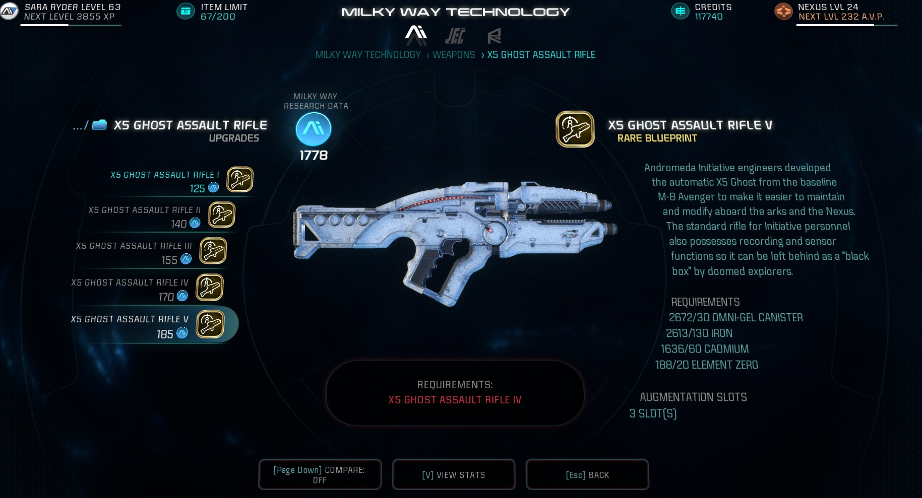 Mass Effect Andromeda X5 Ghost Research