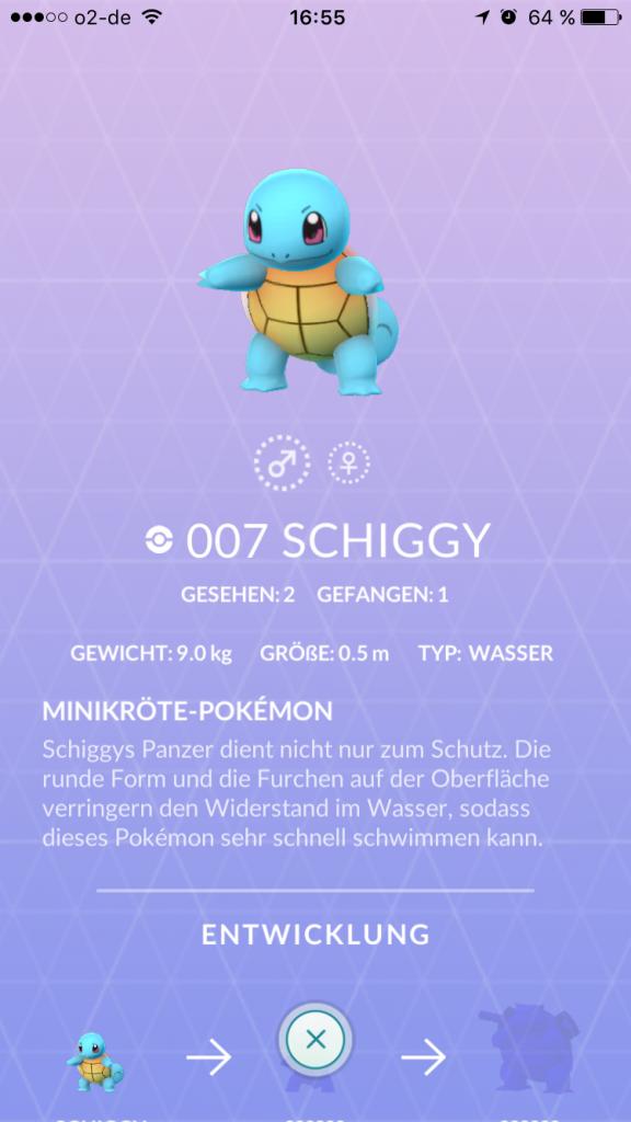 Pokémon GO Schiggy