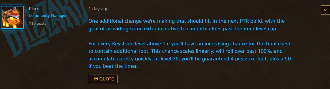 WoW Mythic Dungeon comment lore