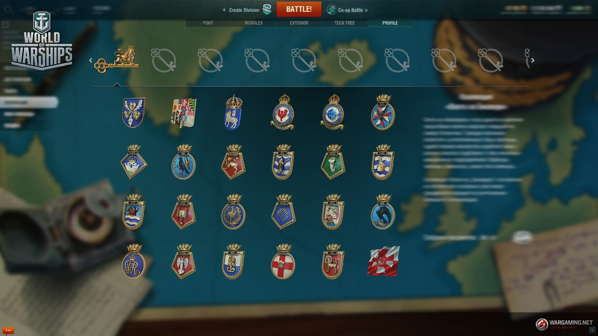 World of warships sammlung
