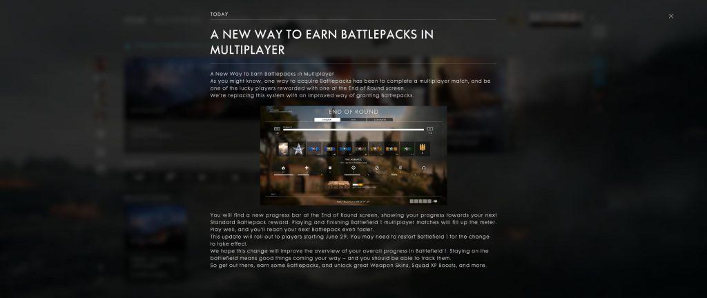 Battlefield 1 Battlepacks neu