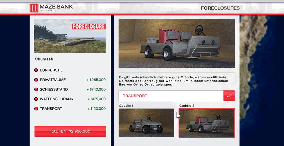 GTA 5 Online BunkerKarren