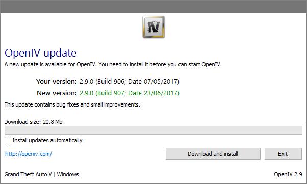 GTA 5 OpenIV Update