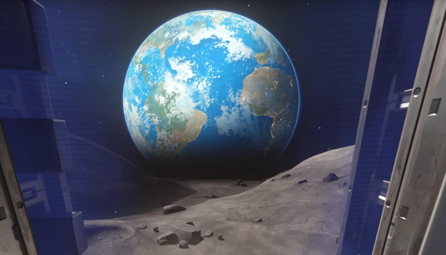Overwatch Moon Horizon Earth View