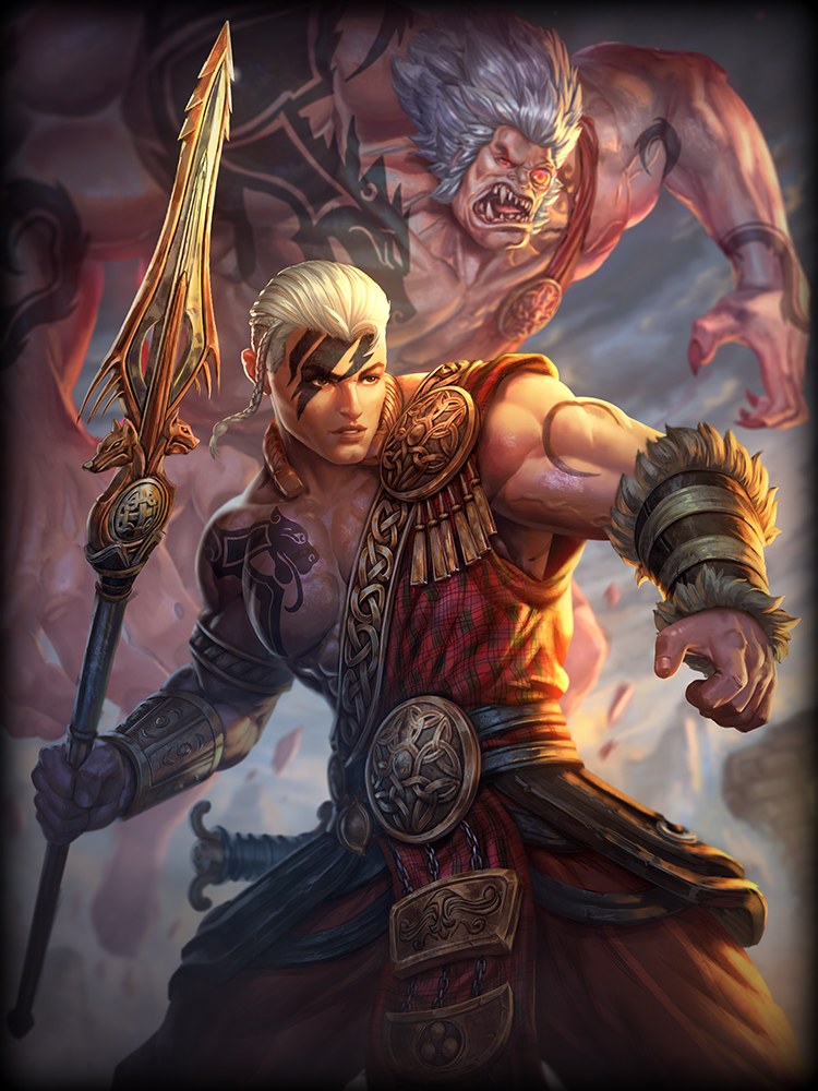 SMITE Cu Chulainn God Card Recolor