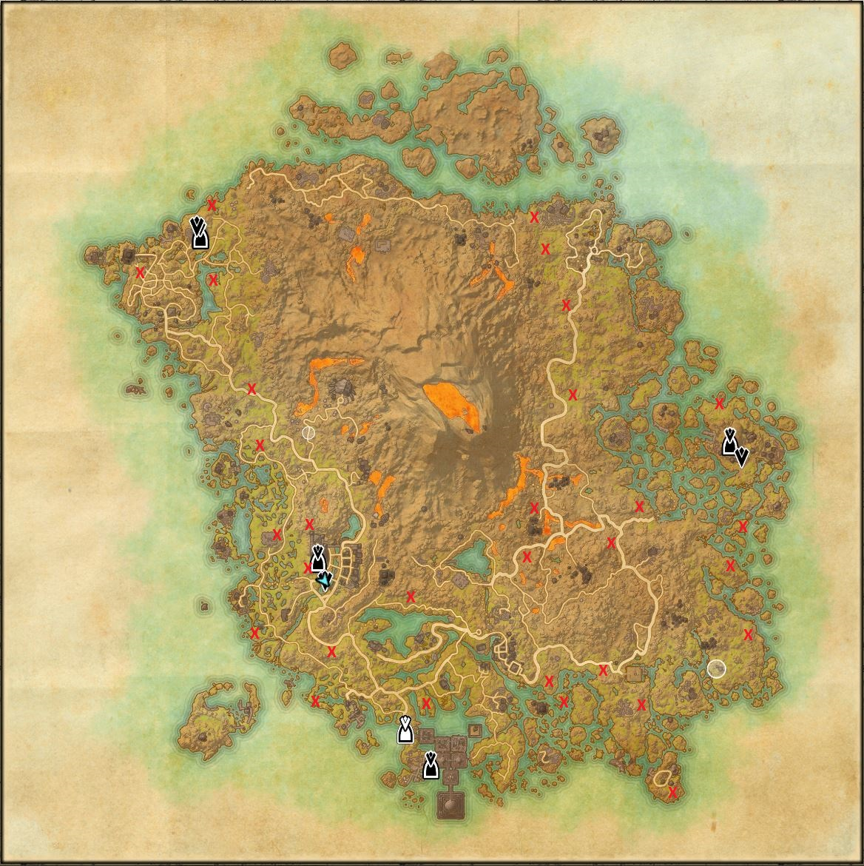 Vvardenfell Karte Ahnengräber