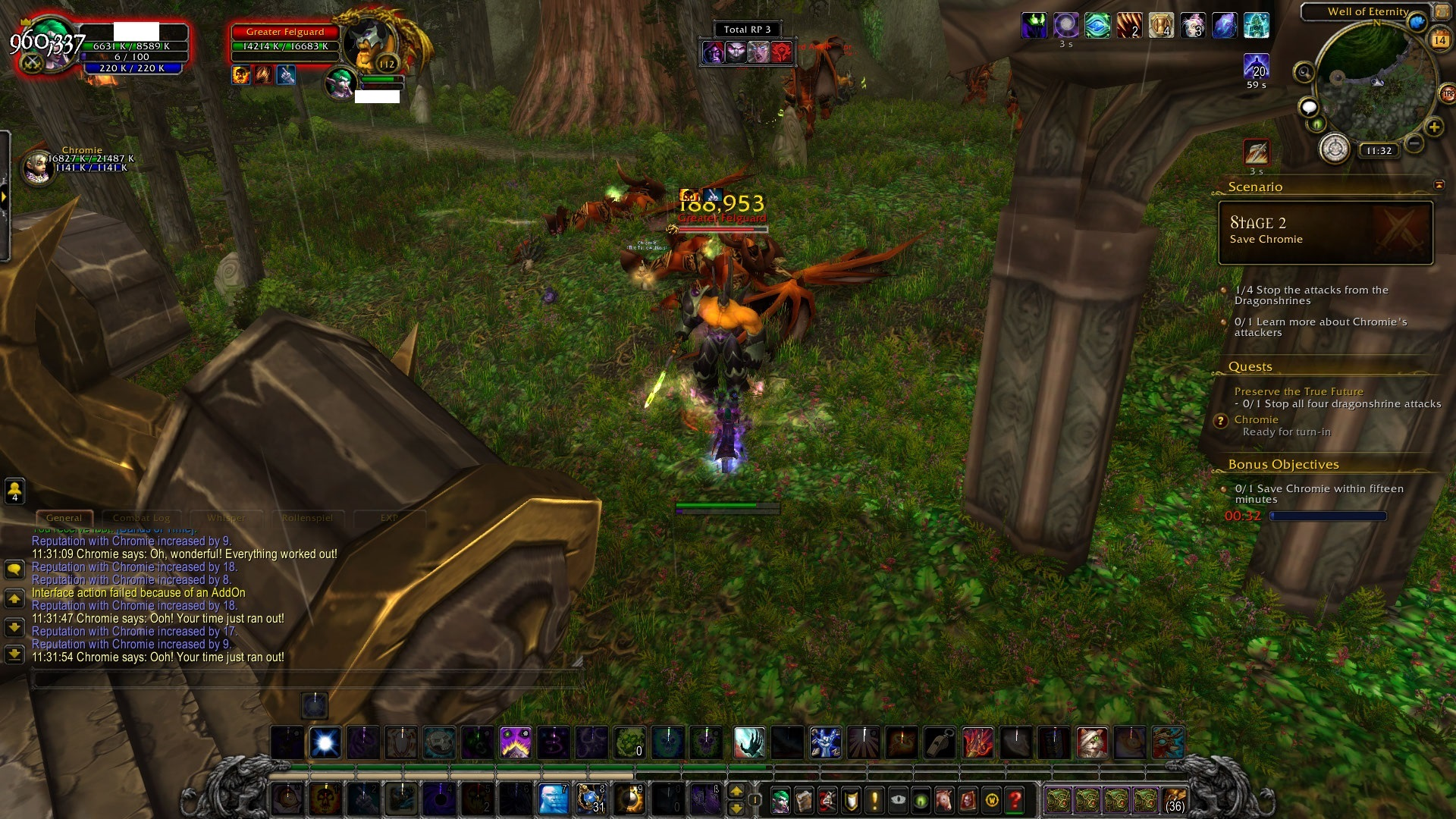 WoW Deaths of Chromie Timeportal no name