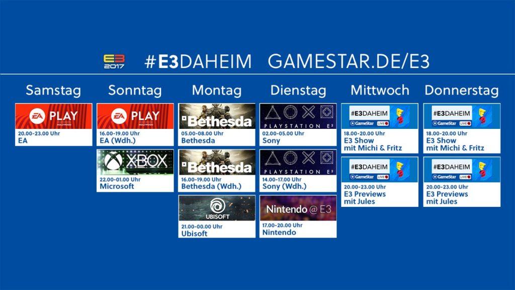 E3daheim Streamingplan