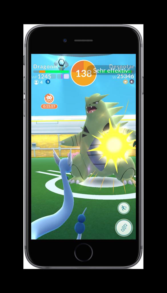 Pokémon GO Raid-Kampf