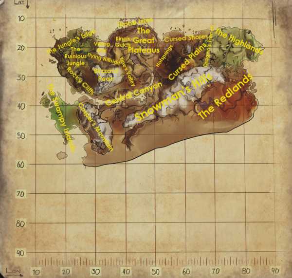 ARK Ragnarok_Map_Regions