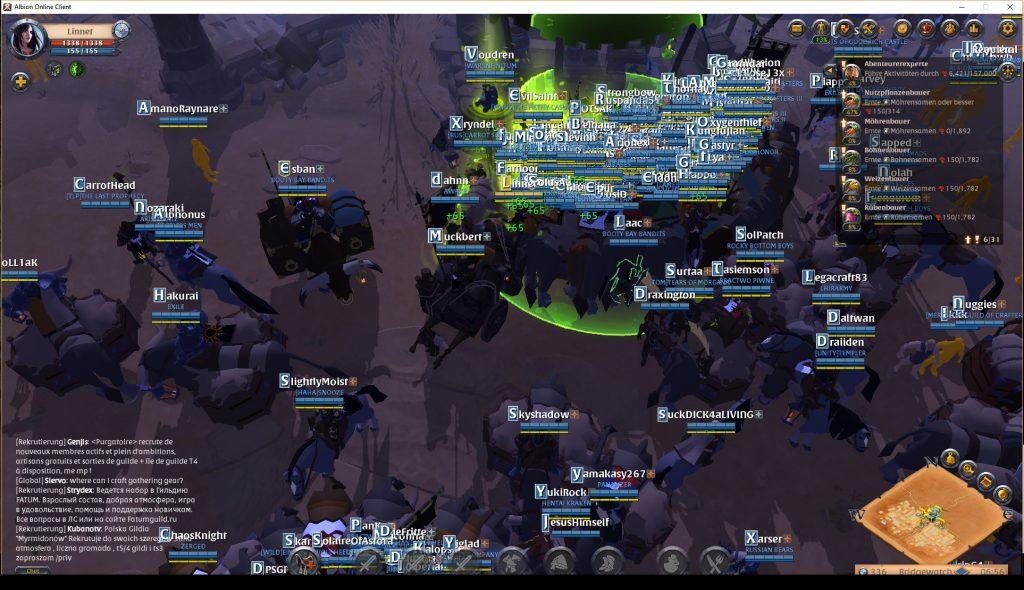 Albion Online überfüllt