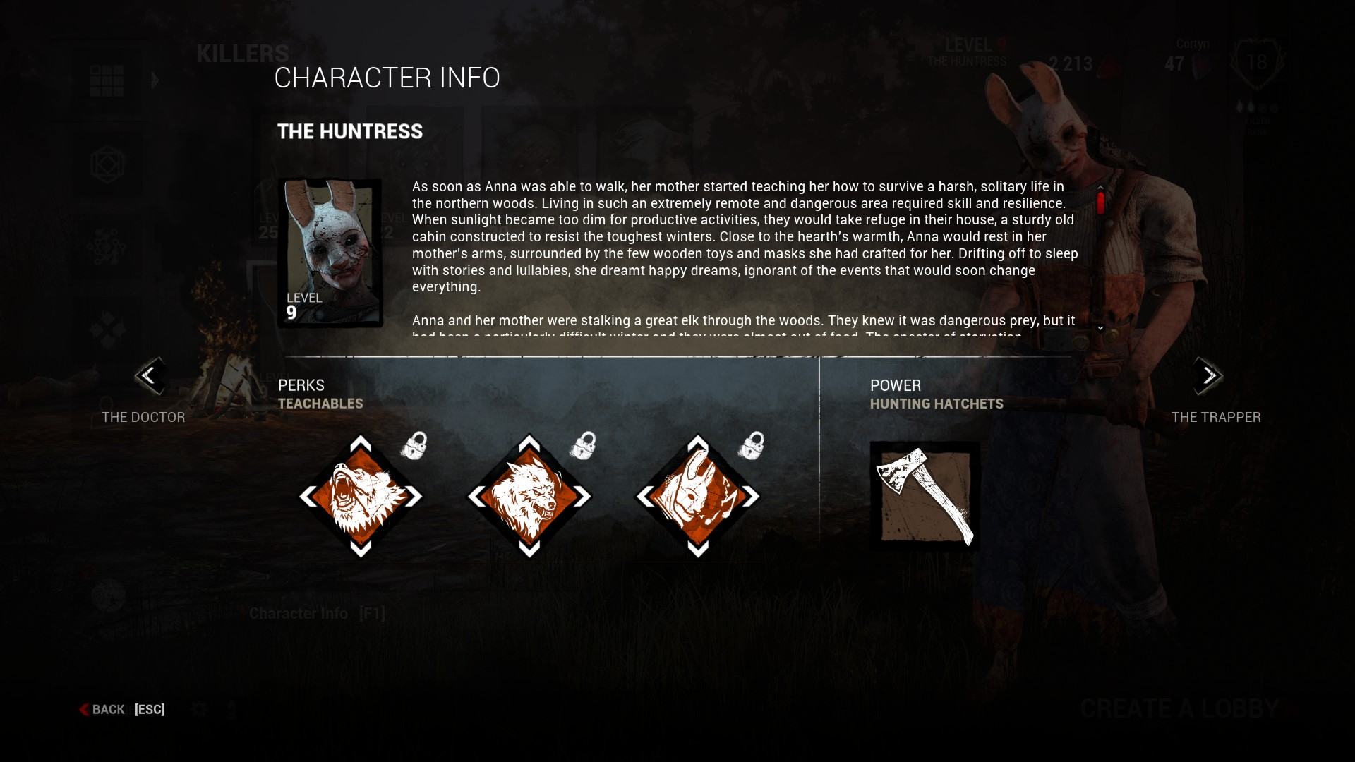 Dead by Daylight Huntress Perks