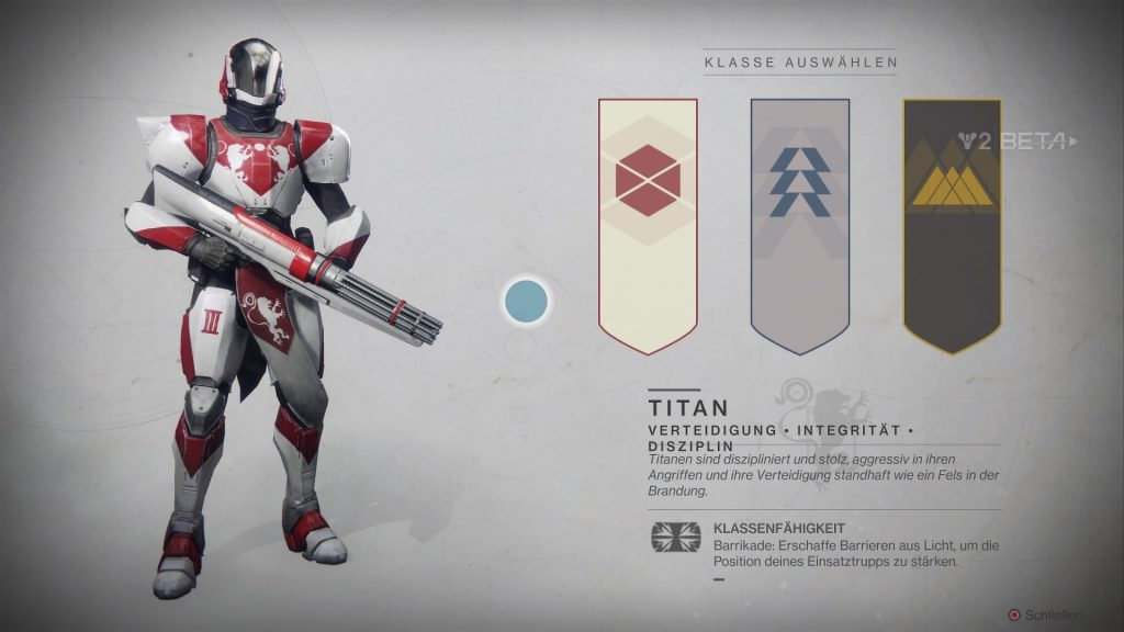 Destiny 2-Beta charakter