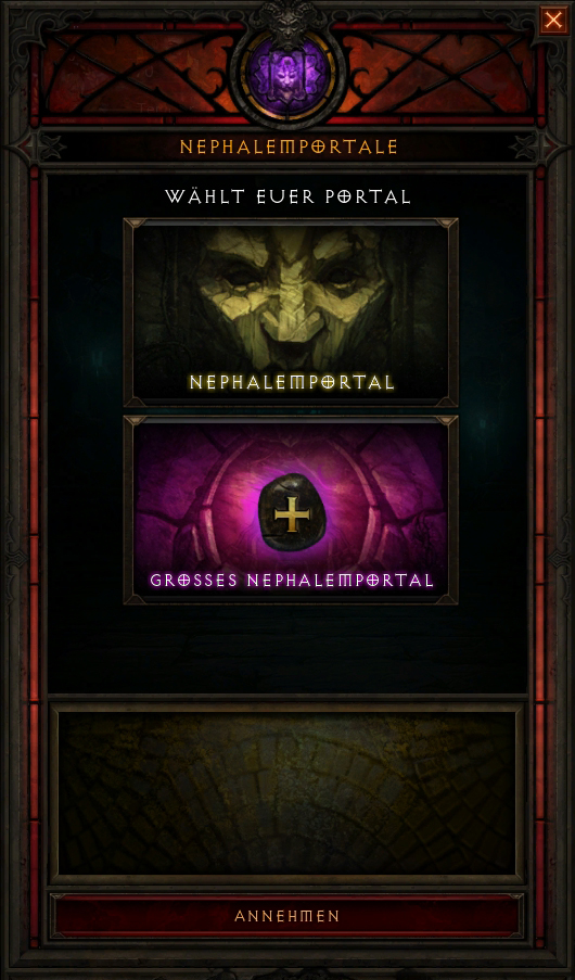 Diablo 3 Nephalemportal