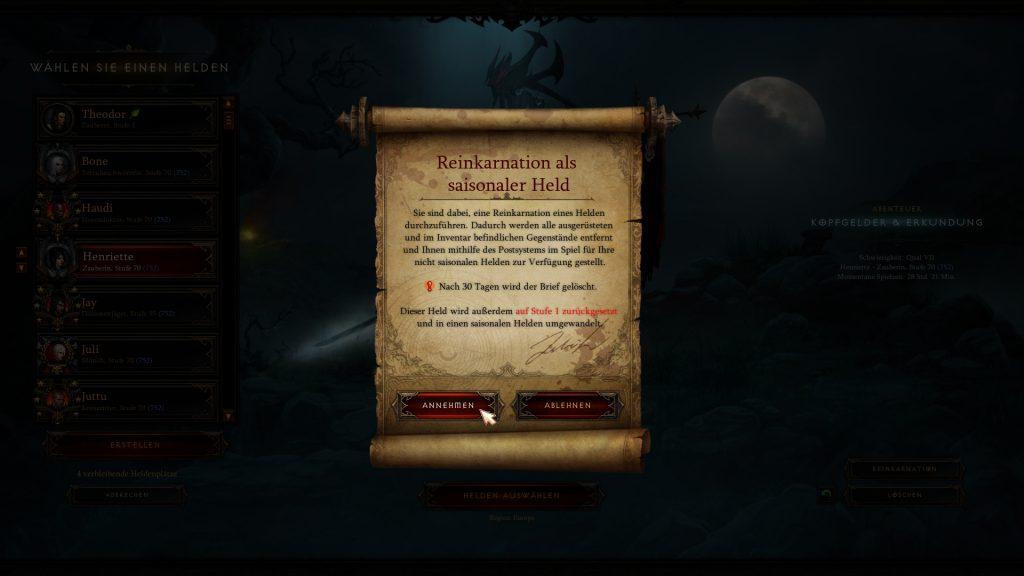 Diablo 3 Reinkarnation