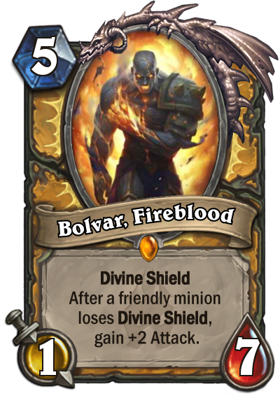 Hearthstone Bolvar Firelord