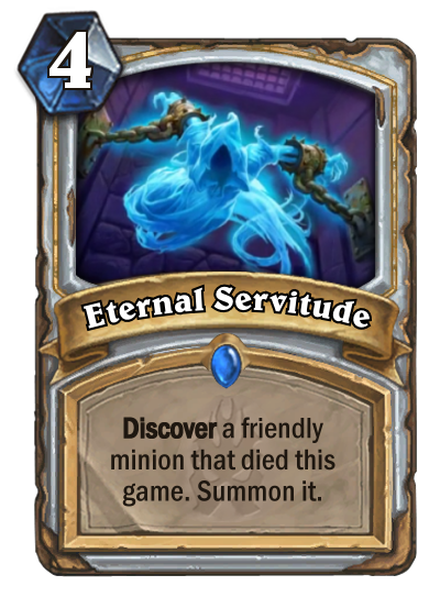 Hearthstone Eternal Servitude