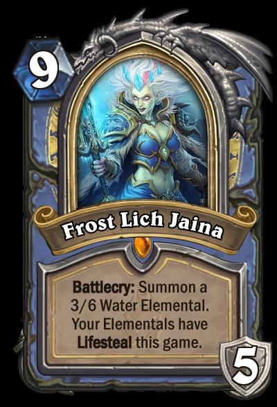 Hearthstone Frost Lich Jaina