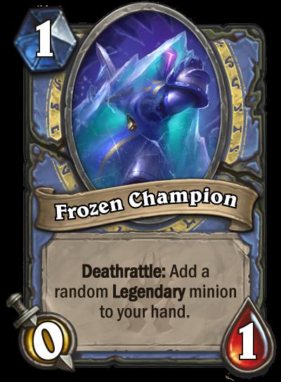 Hearthstone Frozen Champion