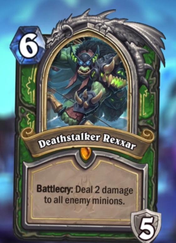 Hearthstone Frozen Throne Deathstalker Rexxar