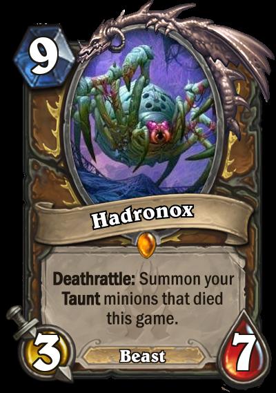 Hearthstone Hadronox