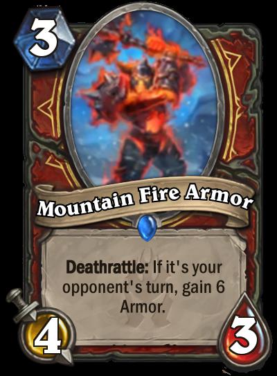 Hearthstone Mountain Fire Armor