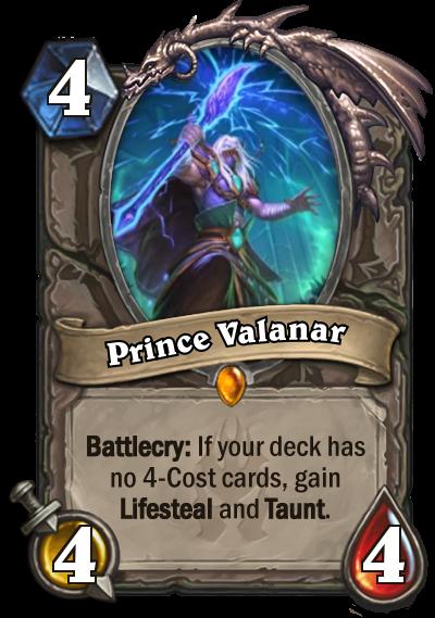 Hearthstone Prince Valanar