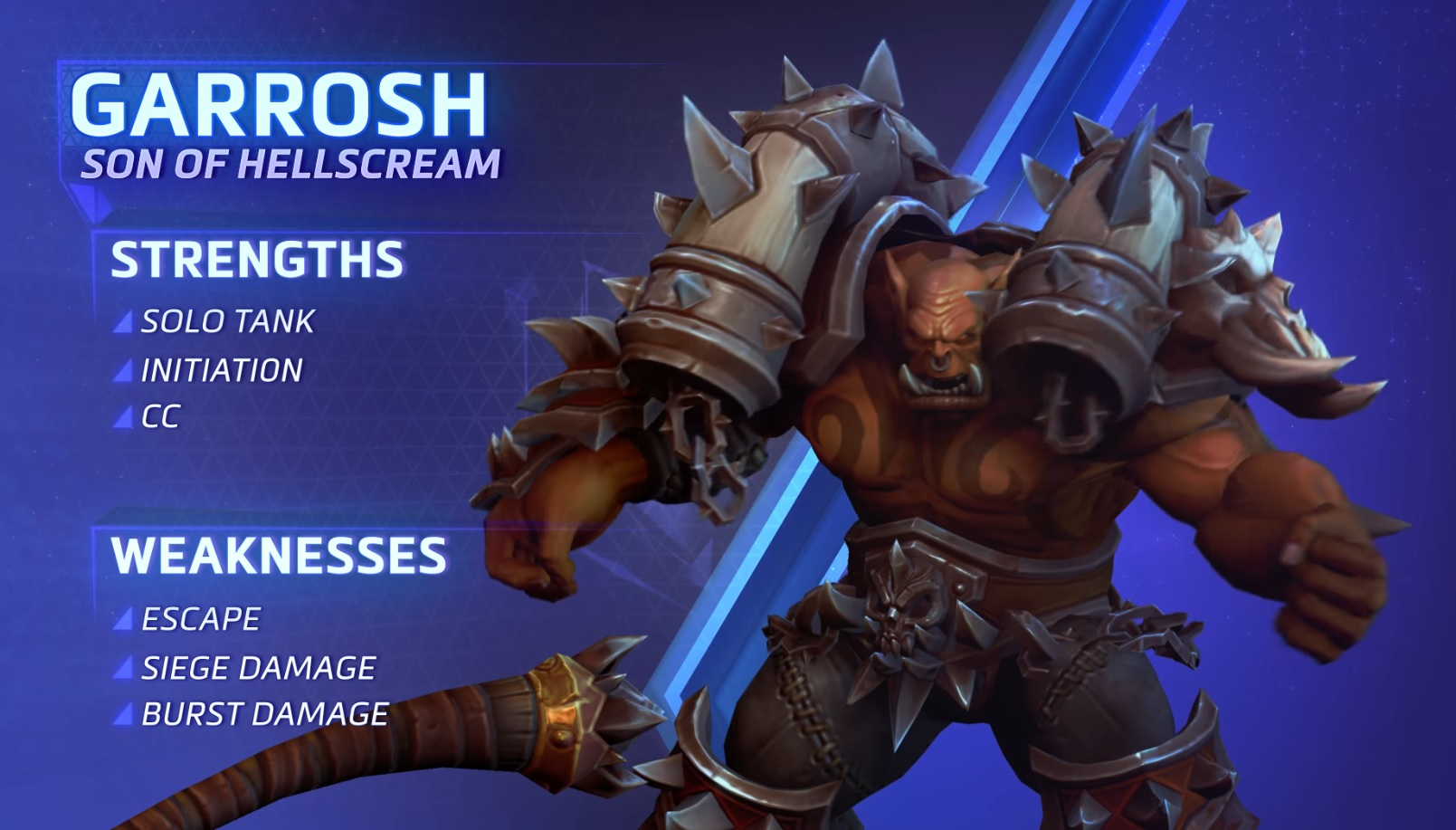 HotS Garrosh Strengths Weaknesses