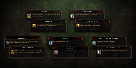 Diablo 3 S11 Achievements