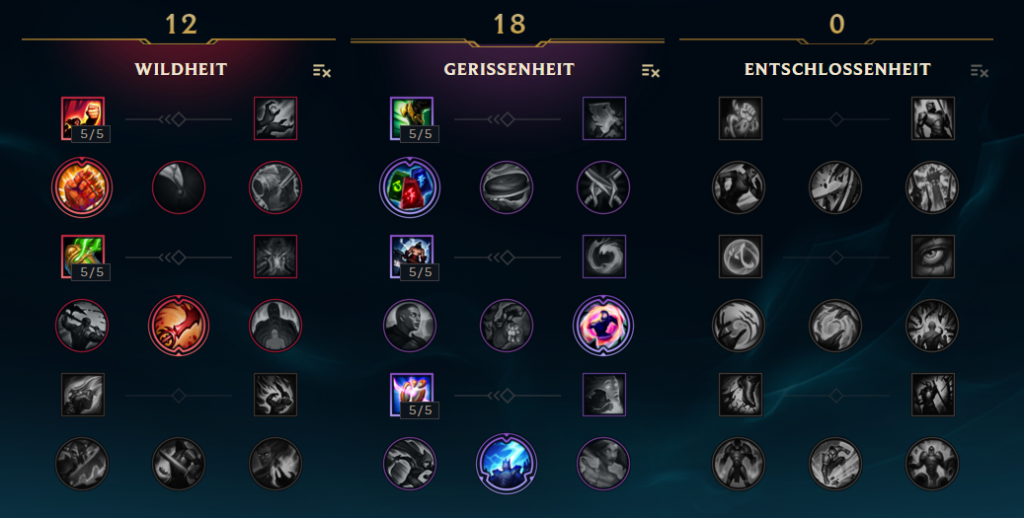 LoL Kayn JGL Masteries