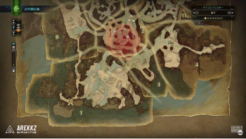 MonsterHunterWorld Map