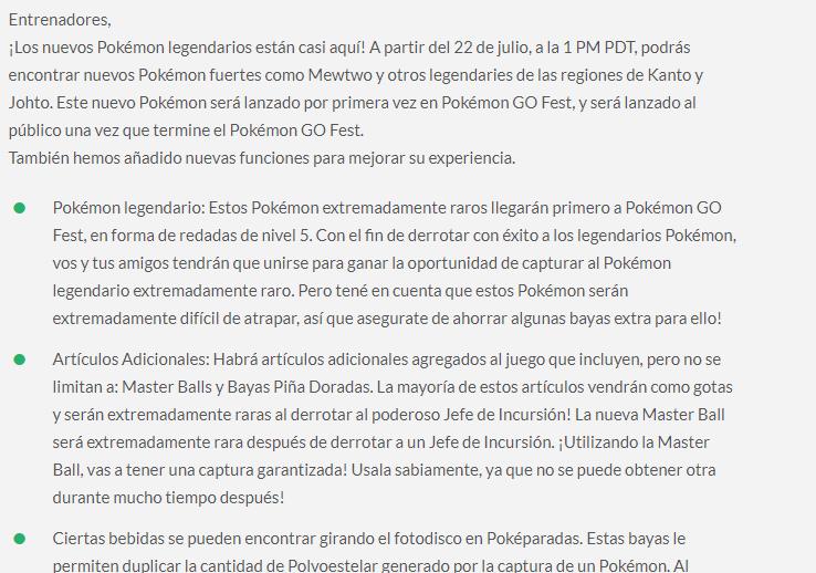 Pokémon GO Leak Argentinien