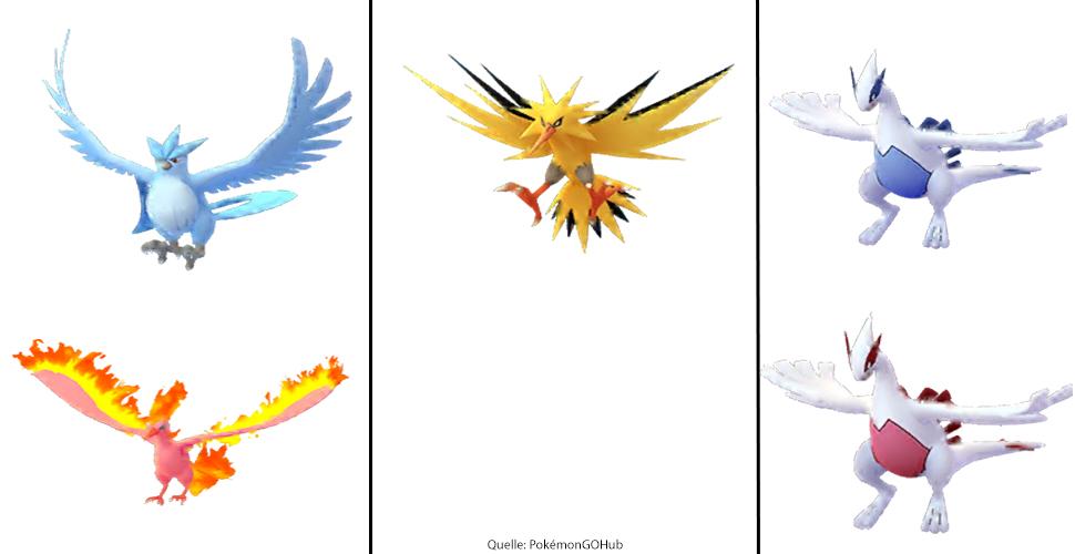 Pokémon GO legendäre Vögel
