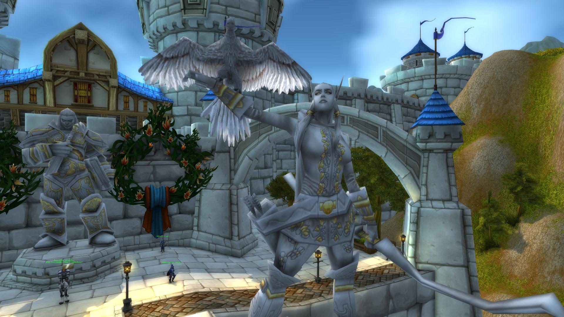 WoW Alleria Statue Stormwind