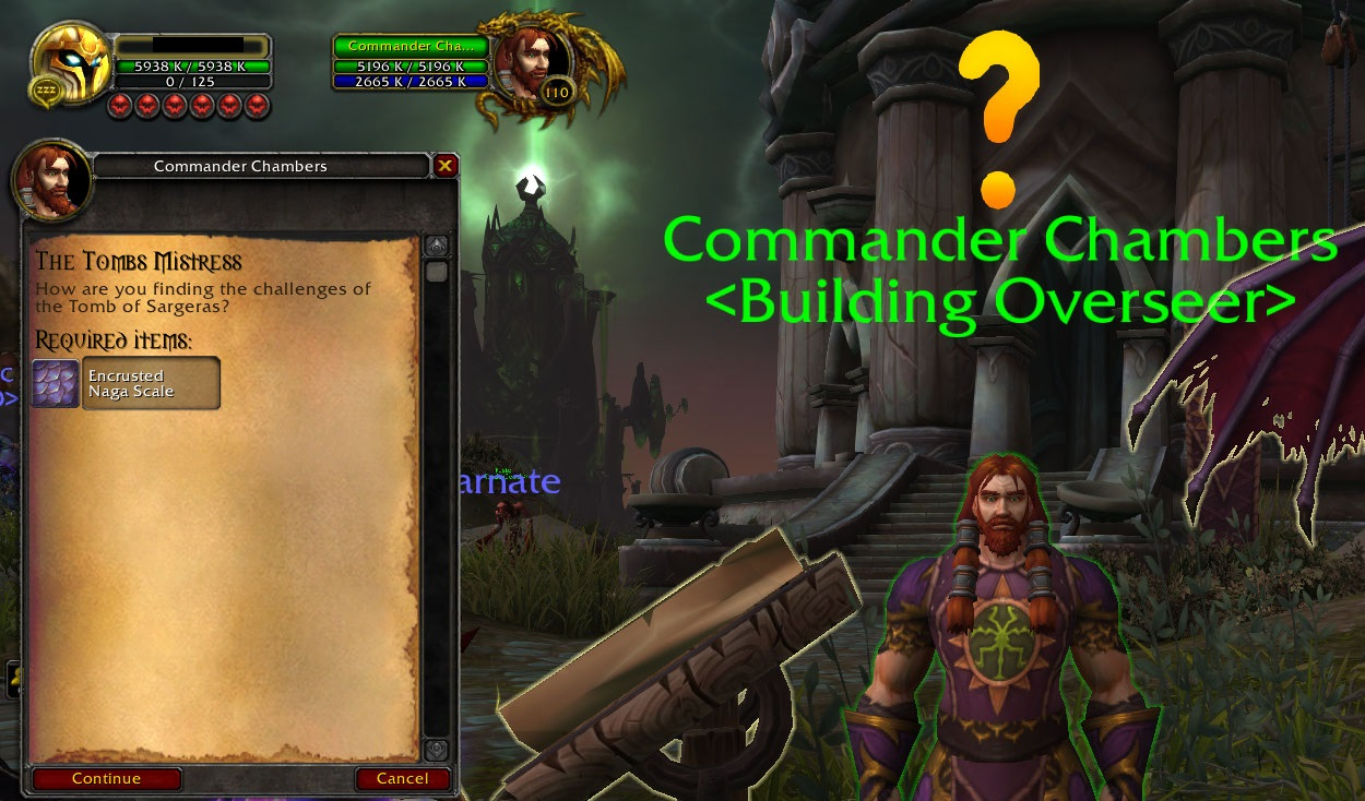 WoW Commander Chambers Quest