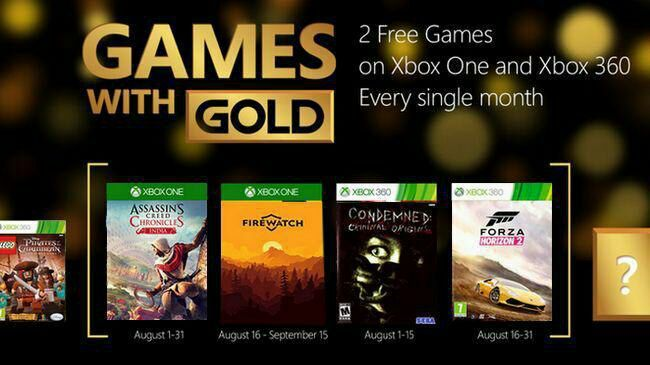 xbox Games with Gold August Leak