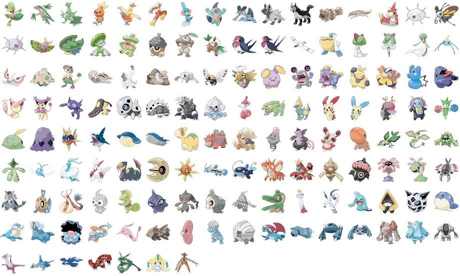 Pokémon GO 3. Gen Übersicht