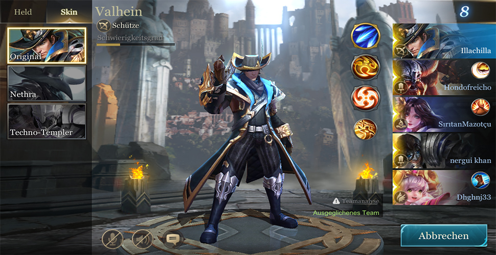 Arena of Valor Championselect