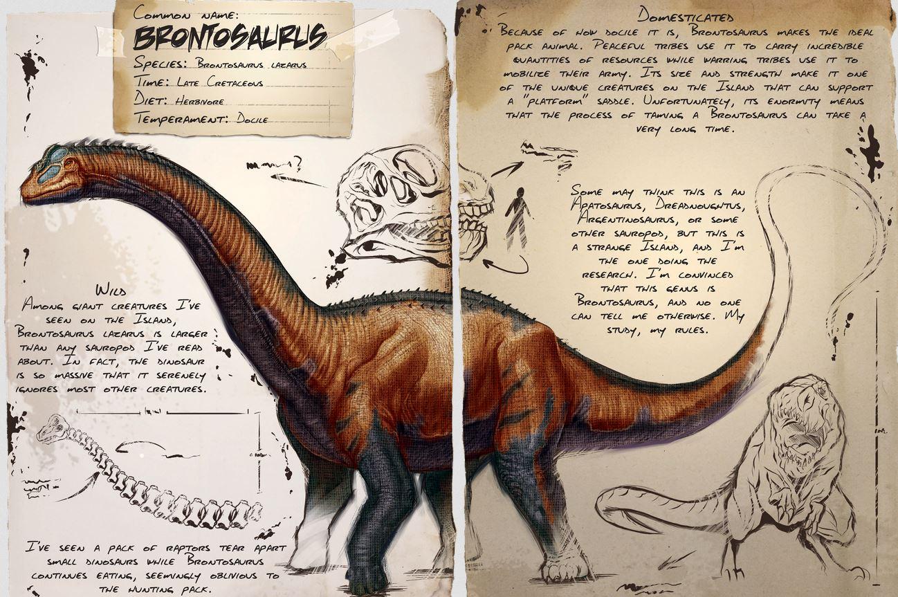 Ark Brontosaurus Dossier