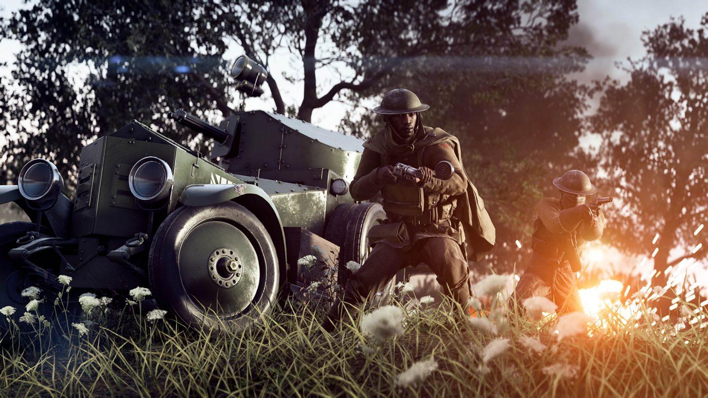 Battlefield 1 Screenshot Wagen Soldat
