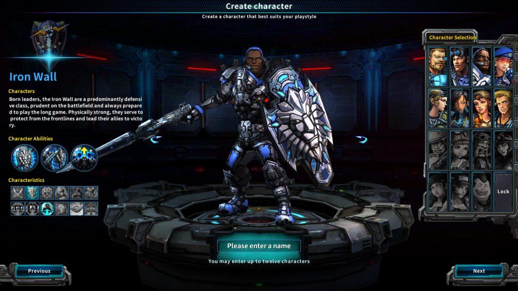 Wild Buster Char Creation Guardian Iron Wall